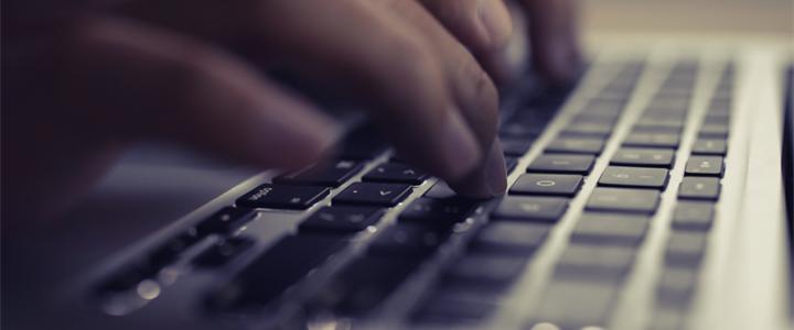 Close up Laptop keyboard