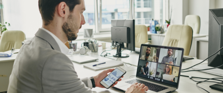 Virtual meeting improving client retention